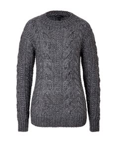 BELSTAFF Wool-Alpaca Blend Cable Knit Pullover