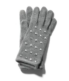 Portolano Cashmere iPhone glove | Products | Henri Bendel - These come in black with gold stud detail as well!