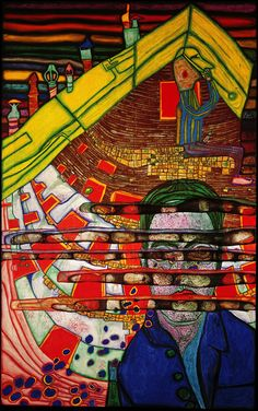 622 Mourning Schiele, 1965 by Friedensreich Hundertwasser Austria) Friedensreich Hundertwasser, Gustav Klimt, Pablo Picasso, Architectural Styles, Learn Art, Art Moderne, Outsider Art, Art And Architecture, Sculpture