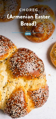 This eggy, aromatic, and plush Armenian bread is traditionally made to celebrate Easter, but it's delicious enough to enjoy any time of year. #Choreg #ArmenianRecipes #Bread #Easter #SeriousEats Baking Tips, Bread Baking, Side Dish Recipes, Bread Recipes, Easter Bread Recipe, Armenian Recipes, Nigella Seeds, Dough Balls, Egg Wash