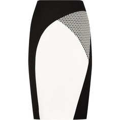 Paule Ka Graphic Panel Pencil Skirt ($565) ❤ liked on Polyvore featuring skirts, bottoms, high waisted skirts, high-waisted skirts, high-waist skirt, pencil skirt and panel skirt