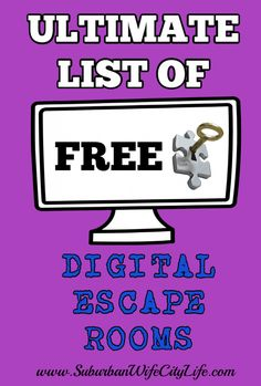 Looking for a fun activity that's FREE? Check out this ultimate list of FREE Virtual Escape rooms that are sure to challenge you while having fun. Room Escape Games, Escape Room Online, Escape Room For Kids, Escape Room Puzzles, Beginning Of School, Middle School, High School, Breakout Edu, Video X