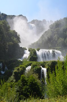 One of the most beautiful hikes I've ever been on.  (Cascate Delle Marmore, Umbria, Italia)