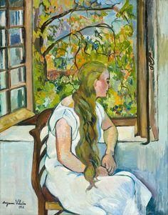 Suzanne Valadon - Geermaine Utter Devant sa Fenetre, 1926