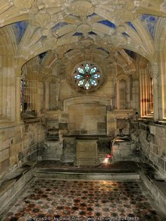 Tynemouth Prior Chapel by David Dixon. Tyne and Wear, England, built in 1200 :