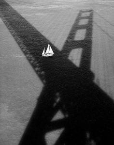 Stu Levy, Golden Gate Bridge #176 (Sailboat & Shadow), 1994, Gallery 270
