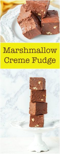 Marshmallow Creme Fudge from the book, L'Appart. Homemade Chocolate Frosting, Easy Chocolate Desserts, Homemade Fudge, Chocolate Treats, Homemade Cakes, Chocolate Flavors, Chocolate Recipes, Fun Desserts, Christmas Desserts