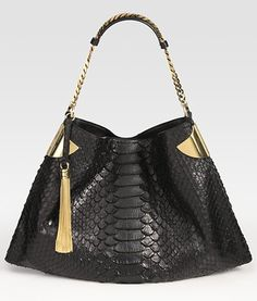 cf7790bcd Gucci black python tote. Gucci Shoes, Gucci Gucci, Gucci Purses, New  Handbags