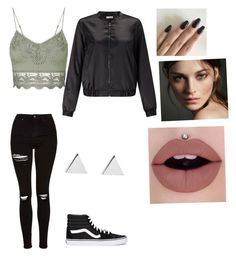 """""""Untitled #186"""" by livelovethelife on Polyvore featuring Topshop, Vans, Miss Selfridge, Jennifer Meyer Jewelry and Burberry"""