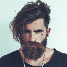 Side part with beard beard love, perfect beard, fashion hairstyles, cool ha Mens Hairstyles With Beard, Haircuts For Men, Cool Hairstyles, Fashion Hairstyles, Beard Styles For Men, Hair And Beard Styles, Long Hair Styles, Perfect Beard, Beard Love