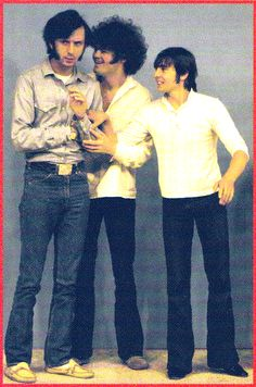 Mike Nesmith, Micky Dolenz and Davy Jones