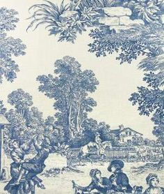 Laura Ashley House Party Chambray Fabric I love a good Toile  To this day, being in a really lovely shop and creating beautiful things are still among the things I love the most.