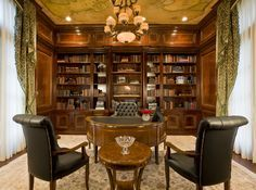 Create a luxurious yet modern library using these unique interior design inspiration Luxxu has selected for you. Discover more luxurious interior design details at luxxu.net