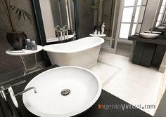 ingeniovirtual.com - Infografía para proyecto de interiorismo de baño en vivienda de lujo.