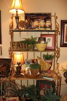 Bakers rack vignettes