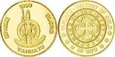 World Coins - VANUATU, 50 Vatu, 1998, KM #31, MS(65-70), Gold, 1.23