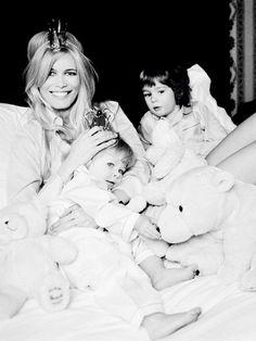 Claudia Schiffer with her children, Caspar and Clementine by Ellen von Unwerth - Elle Fr. Febr. 2007.