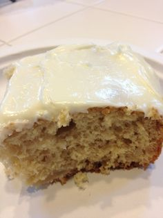 Canned apple dump cake. Use spice cake mix and purée filling for a smoother cake!! (Apple Butter Frosting)