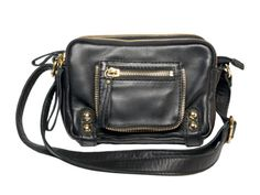 Dylan Triple Zip Shoulder Bag by Linea Pelle