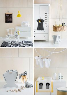 love the pure white theme with yellow and black accents