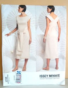 ISSEY MIYAKE Vogue 2748 DRESS Pattern SZ 14-16-18 uncut factory folded
