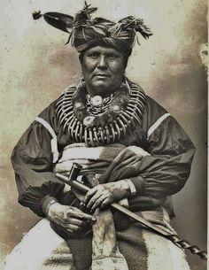 Pushetonequa (aka Push-te-nah-quah, aka Push-e-To-Neke-Qua, aka Old Man's Eye, aka Old Bear's Eye, aka Old Eye), the husband of Na-to-wa-se-qua - Sac & Fox (Meskwaki) - 1890
