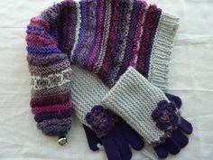 bonnet et mitaines, restes de laine