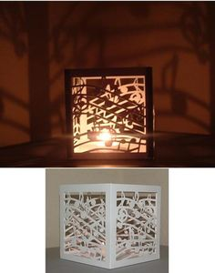 Luminaire Tealight Holder Musical Notes SVG on Craftsuprint designed by Tina Fallon - Luminaire Tealight Holder Musical NotesFor use with LED Battery tealights onlySVG cutting file format - Now available for download!
