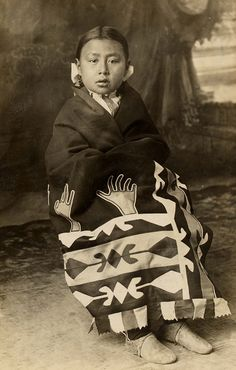 Girl in blanket (Osage? Comanche?), 1900? – 1920? by Marquette University Archives, via Flickr