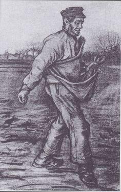 Van Gogh - Der Sämann, 1882