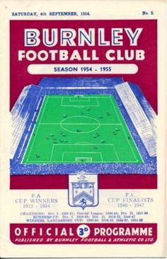 Burnley v Everton 1954-55 match programme