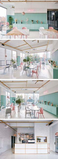 15 Ideas For Kitchen Design Restaurant Decor Architecture Restaurant, Hotel Restaurant, Restaurant Kitchen, Commercial Design, Commercial Interiors, Café Design, Design Ideas, Kids Cafe, Kitchen Design