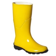 Womens Anna Solid Rain Boots - Yellow