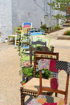 Redesigned painted chairs