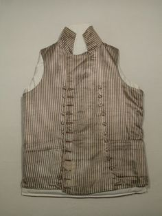 Waistcoat  National Trust Inventory Number 1349046 Date1790 - 1800 CollectionSnowshill Wade Costume Collection, Gloucestershire (Accredited Museum)