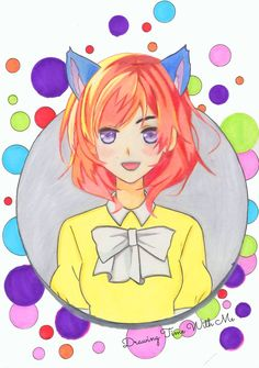 Drawing Cute Anime Girl Neko by DrawingTimeWithMe Anime Girl Drawings, Manga Drawing, Cute Drawings, Pencil Drawings, Anime Drawings For Beginners, Anime Girl Neko, Beautiful Anime Girl, Detailed Image, Anime Characters
