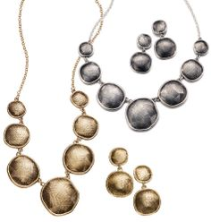 Etched Metals Necklace and Earring Gift Set