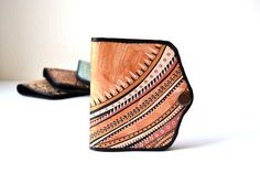 Hand Painted Leather Wallet Card Holder Coin Purse Girlfriend