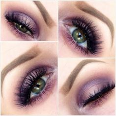 This purple smokey eye is perfect for a night out look. Discover the palette you need to recreate this elegant makeup.