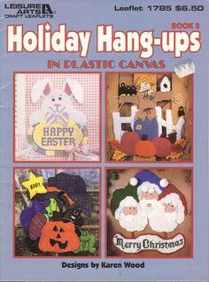 Holiday Hang Ups in Plastic Canvas Vintage Crafts Plastic Canvas Book #LeisureArts