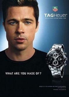 Brad Pitt for Tag Heurer