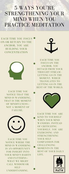 5 ways to strengthen your mind when you practice meditation. veterans // meditation // mindful // mindfulness // journey forward // vets // military // usmc // usn // usaf // us army // uscg // army // army strong // Marines // marine corps // us marine Meditation Mantra, Daily Meditation, Meditation Practices, Mindfulness Meditation, Meditation Scripts, Meditation Center, Healing Meditation, Meditation Music, Meditation For Beginners