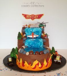Planes Fire & Rescue Cake @ Cassie's Confections