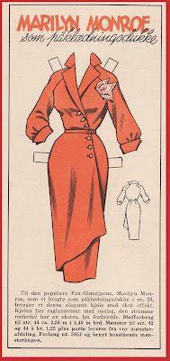 Ingrid Paperdolls: Tempo 1953 Marilyn Monroe