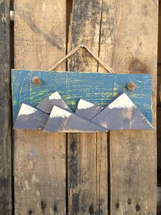 Wooden Mountain Sign by CactusCreationsAZ on Etsy