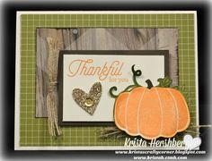 Krista's Crafty Corner: September Stamp of the Month - Blog Hop...Blessed Beyond…