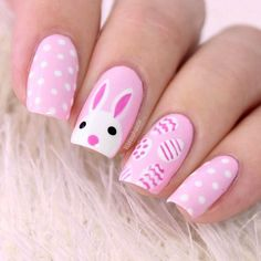 Amazing Designs Of Easter Nails: Rabbit Easter Nail Art Ideas; #easter; #nails; #nailart; #naildesign