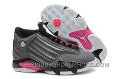 official photos 75f7e 51a00 Girls Air Jordan 14 Retro GS Metallic Dark Grey Black-White-Hyper Pink Sale  2016 Discount