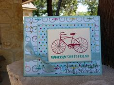 Simple card using Stampin' Up! Cycle Celebration and Birthday Basics DSP