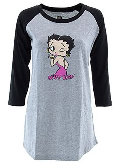 Betty Boop Juniors Black Gray Cotton Nightshirt L -- Read more  at the image link. (This is an affiliate link and I receive a commission for the sales)